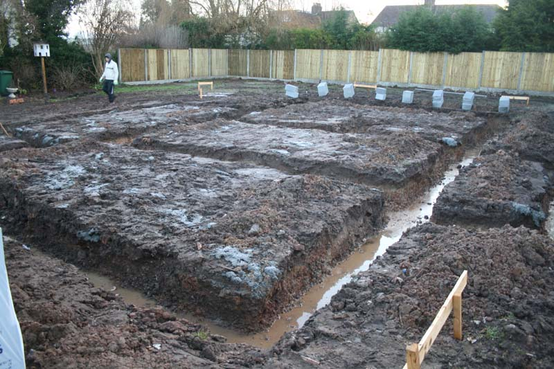 Foundation trenches bromilow architects ltd for How to start building a house