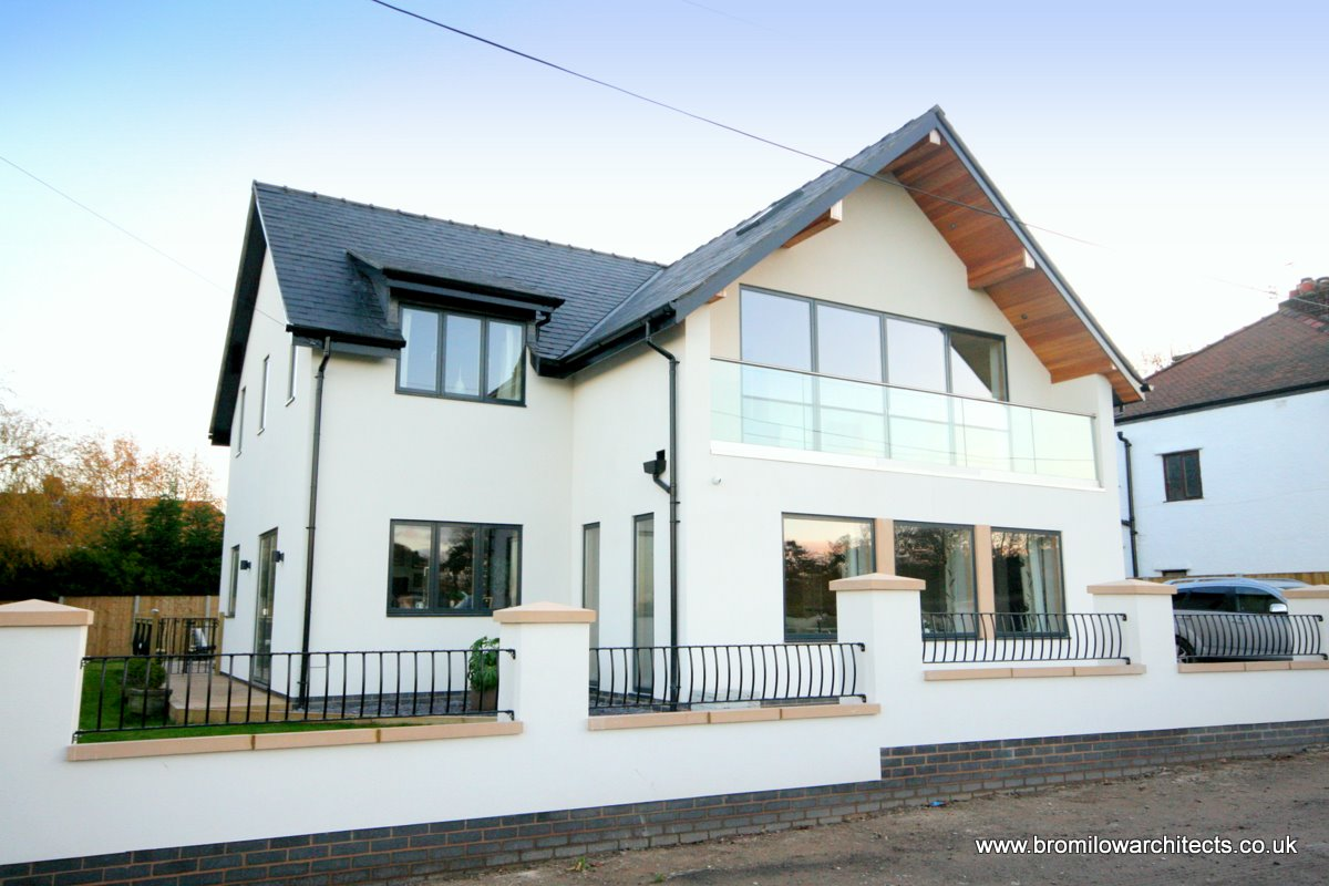 New build green eco house in wirral greenbelt designed by - Houses with black windows ...